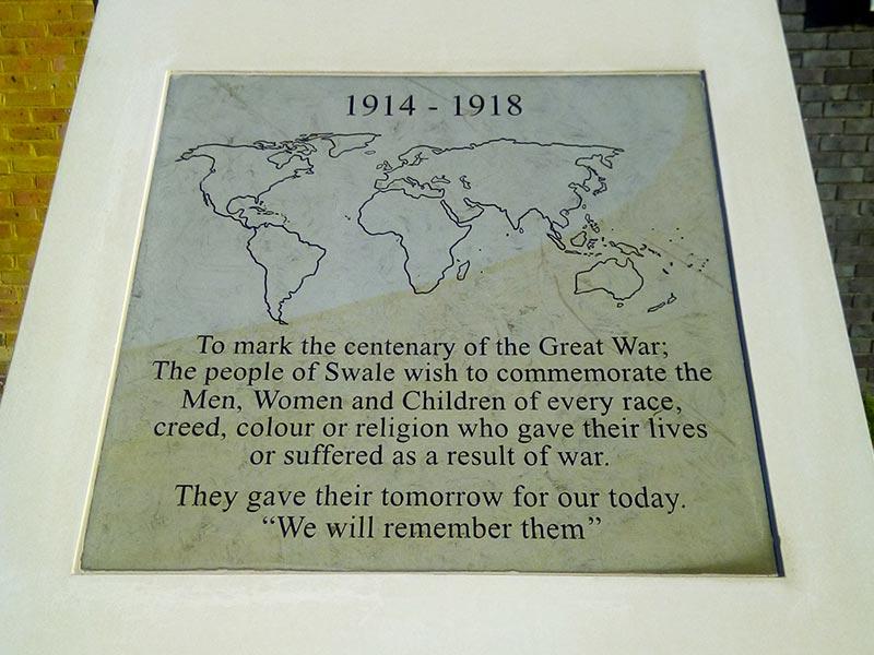 Sittingbourne Centenary Memorial Stone
